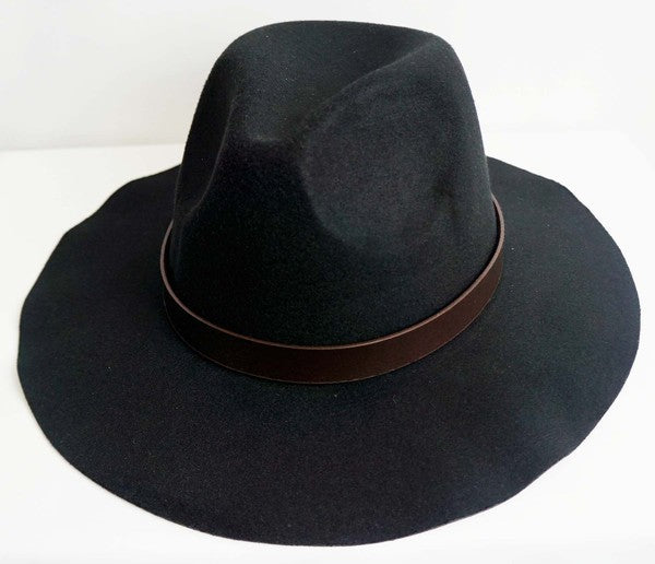 Leather Strap Fall Fedora Hat
