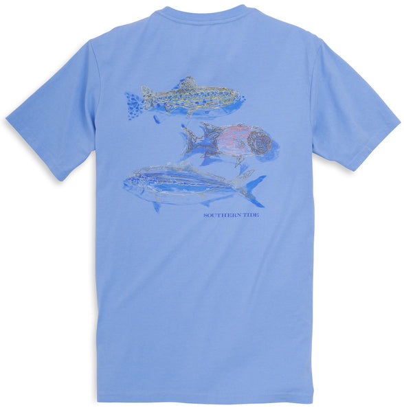 Southern Tide Fins Up T Shirt