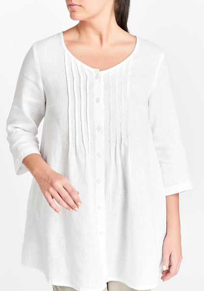 Flax Celebration Blouse White