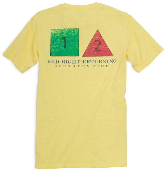Red, right, returning T-Shirt