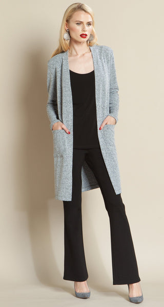 Modern Pocket Sweater Cardigan Grey Clara Sun Woo