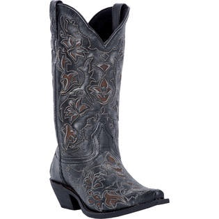 Laredo Cowboy Boot In Black and Brown