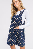Dot My World Dress In Navy