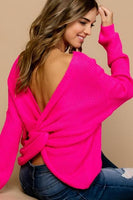 You're A Flirt Neon Pink Sweater