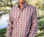 Southern marsh Cumberland plaid button up (lilac & pink)
