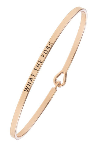 What The Fork Bracelet Jewelry in Silver & Rose Gold