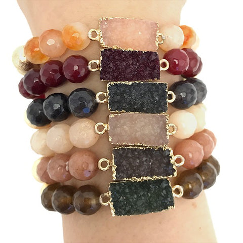 Mystic Rectangle Beaded Bracelet