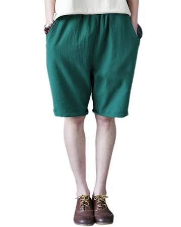 Flax Shorts - Forest Green
