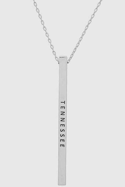 Vertical State Necklace