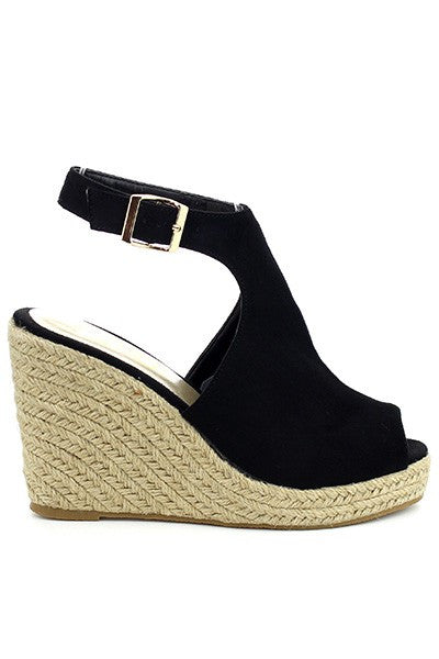 Sandra Black Wedge Sandal