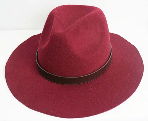 Leather Strap Fall Fedora