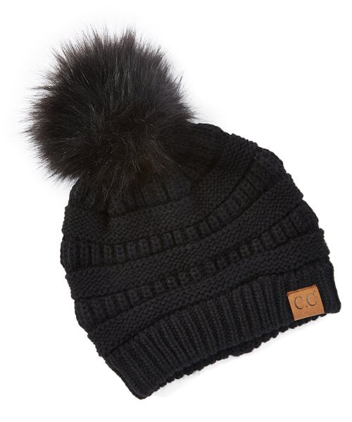 C.C Pom Pom Beanies Winter Hat