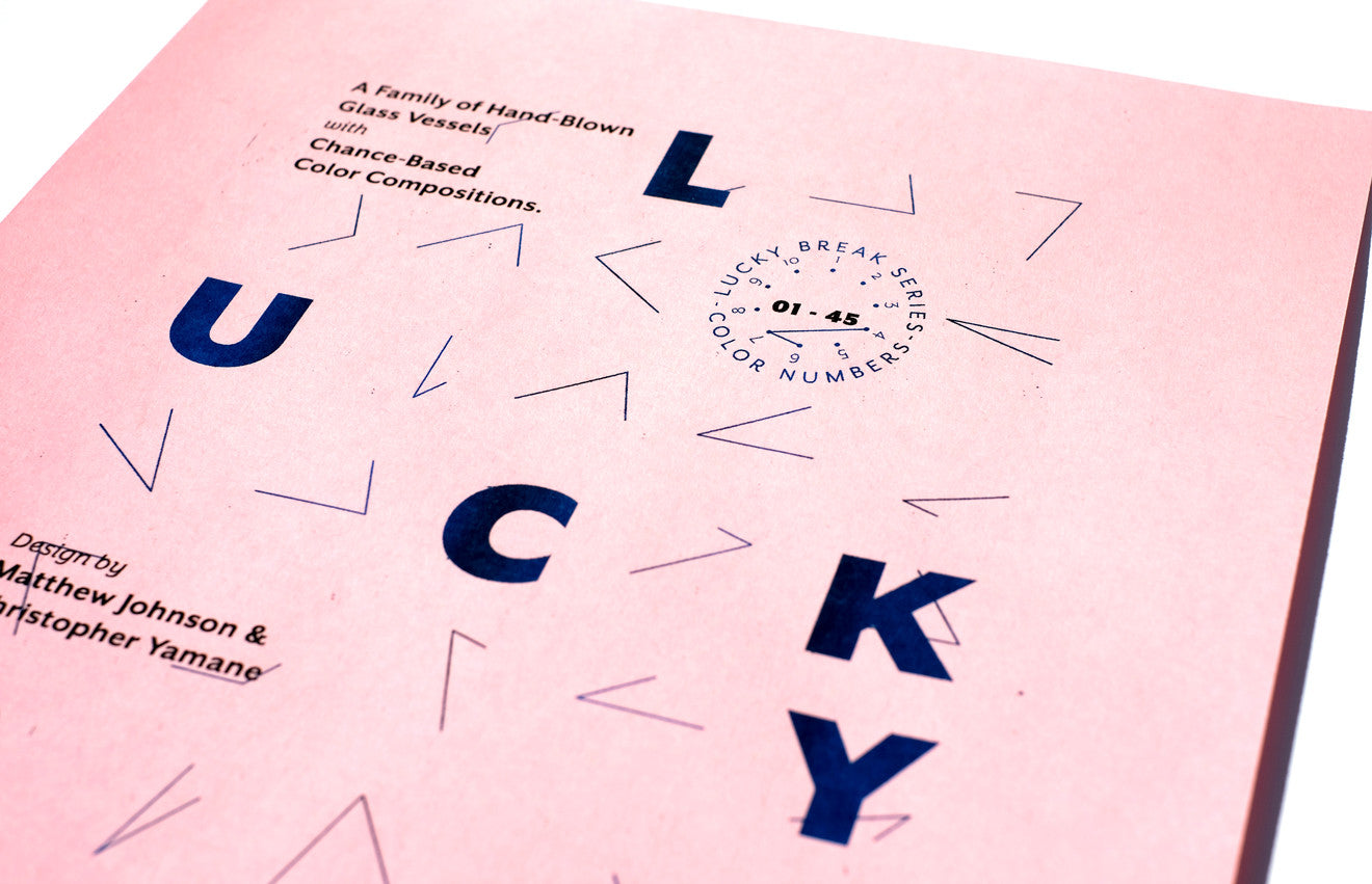 The Lucky Break logo acts like a kind of decoder ring.