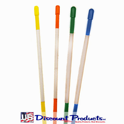 Yellow, Orange, Green, Blue Snow Stakes