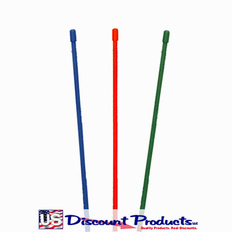 Orange, Green, Blue Snow Stakes