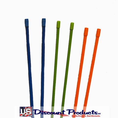 Blue, Green, Orange Snow Stakes