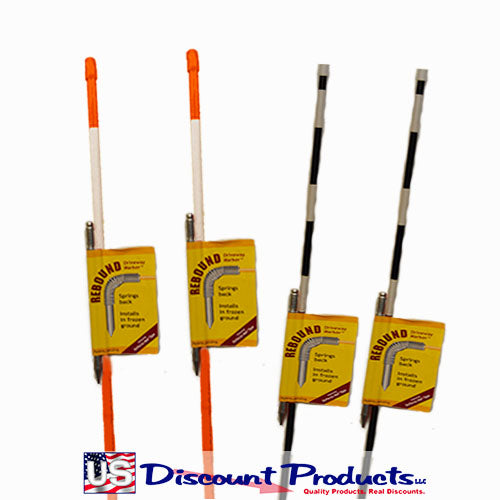 4ft Rebound Driveway Markers - 1/4