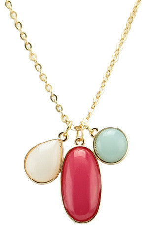 3 Stone Necklace - More Colors