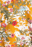 yellow flower floral tie front top tunic dress