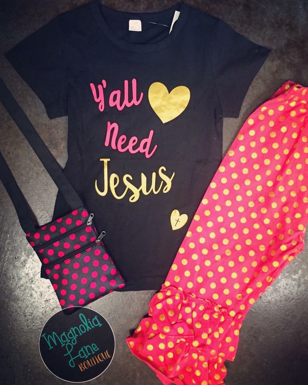 Yall Need Jesus 2 pc Set