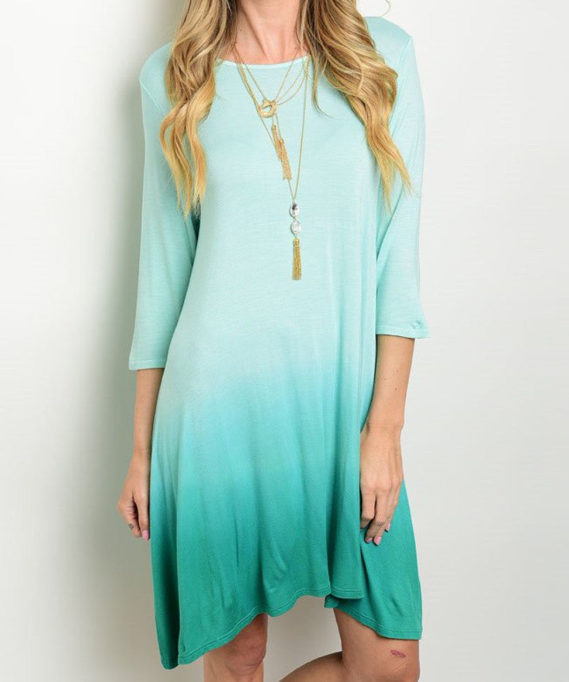 Jade Ombre Dress