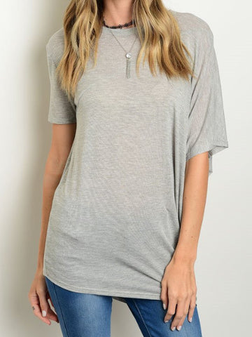 Elle Grey Basic Top