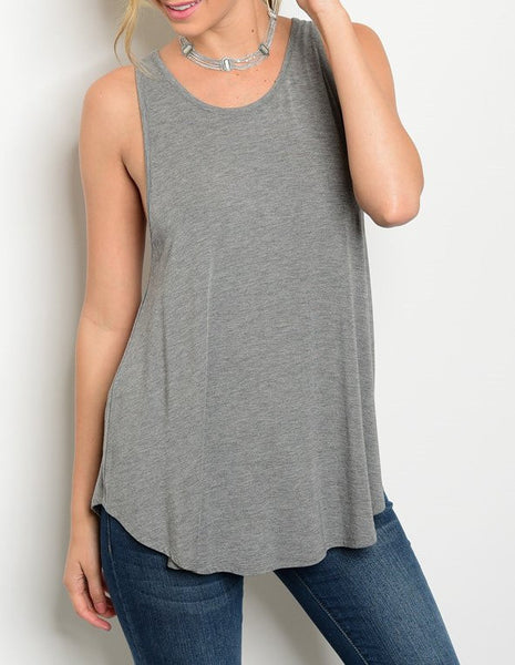 Walking Away Gray Tank Top