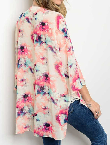 Wild And Free Watercolor Kimono