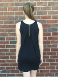 Little Black Zipper Back Dress