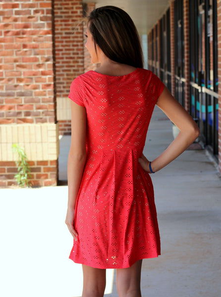 Skye Cutout Dress - Coral