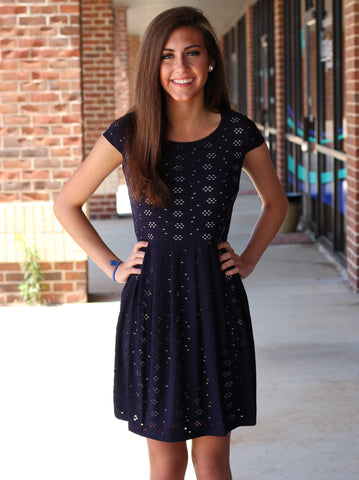 Skye Cutout Dress - Navy