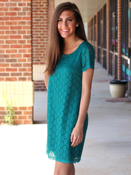 Jade Overlay Dress