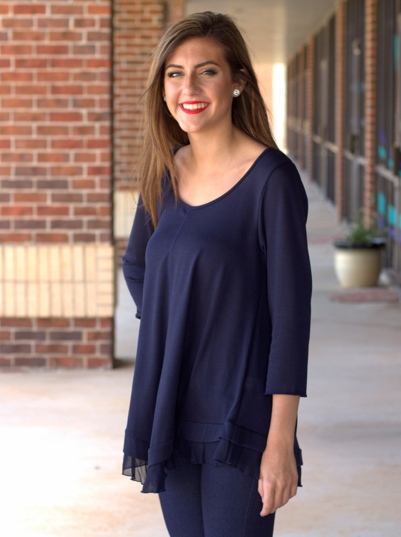 Layers Top - Navy