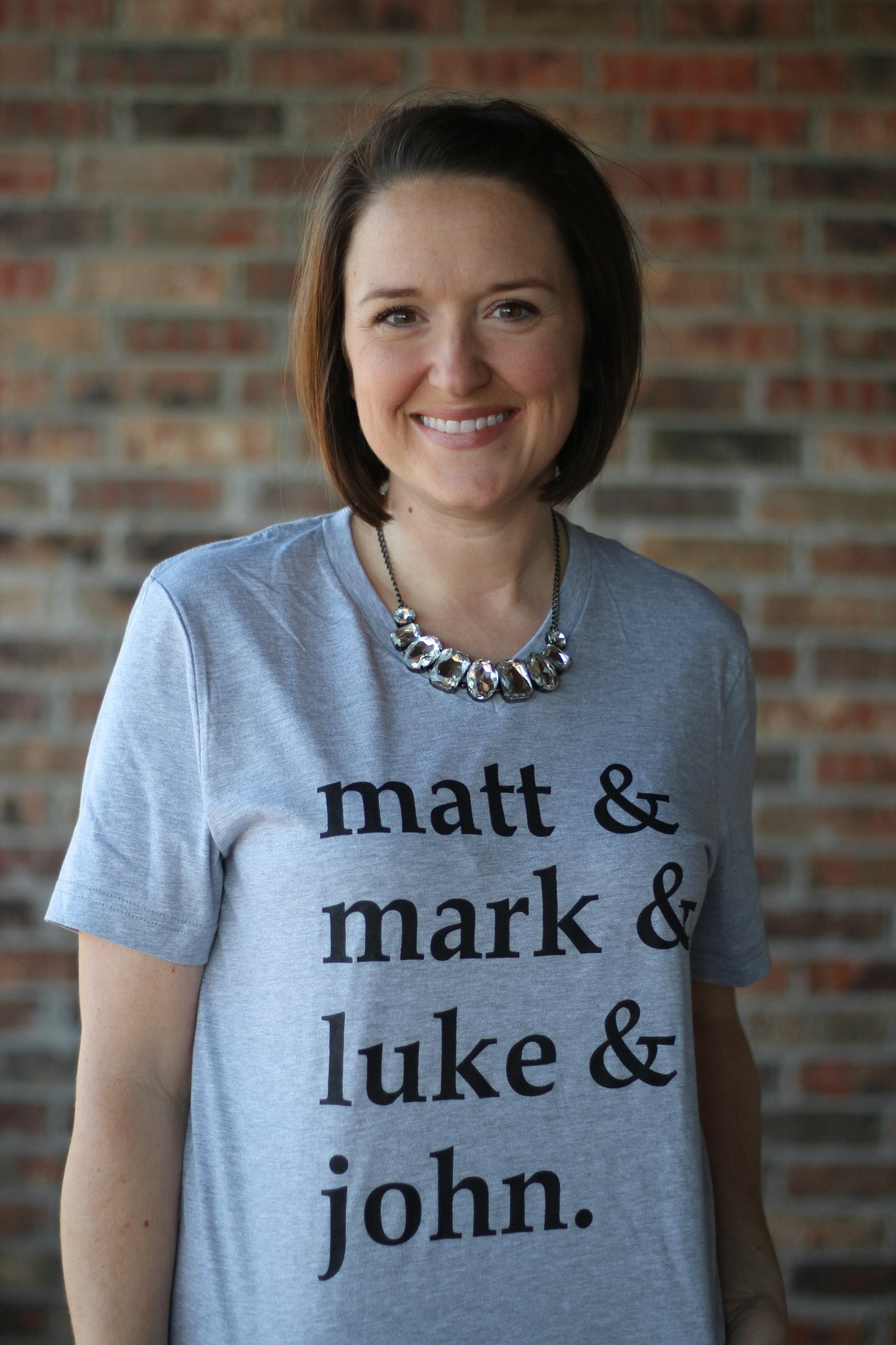 Matt, Mark, Luke & John Vneck Tee - 2 Colors