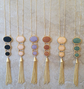 3 Druzy Stone Necklaces