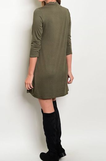 Brinson Dress - Forest Green