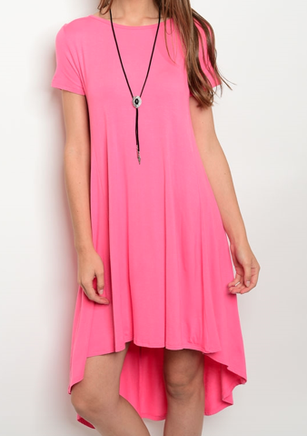 Pink Paradise High Low Dress