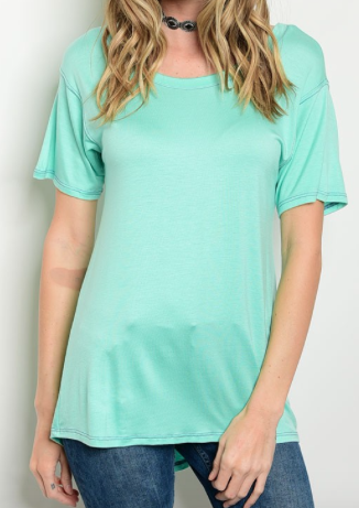 Molly Basic Top - Mint
