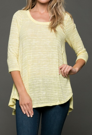 Mellow Yellow Solid Knit Top
