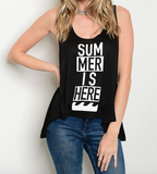 Summer Time Tank Top Black