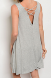 Cross Back Pocket Dress
