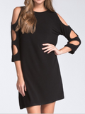Cut It Out Dress - BLACK