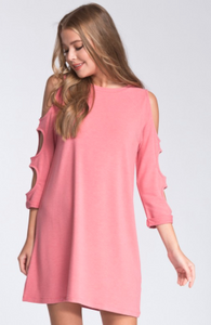 Cut It Out Dress - CORAL