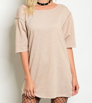 All Stitched Up Cream Tunic