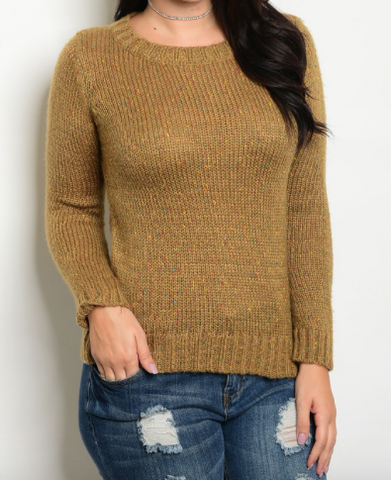 Gorgeous golden colored crew neck sweater