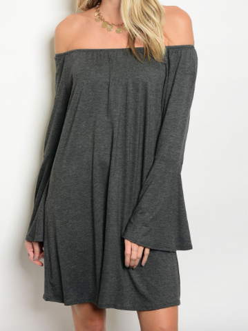 Dawson Off Shoulder Dress - Gray