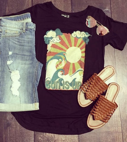 Vintage Sun Graphic Top