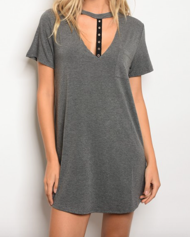 Cut Out Tunic - Gray