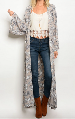 Right Wrong Turn Floral Kimono