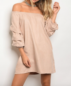 Blush Layered Sleeve Dress